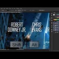 Photoshop tutorialok - Feliratok kiretusálása