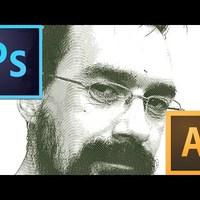 Rézmetszet effekt készítése Illustrator és Photoshop használatával