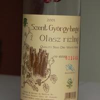Félédes underground – Biovitis Pince Bt., Szent György-hegyi Olaszrizling 2001