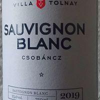 Tegnap ittam - Villa Tolnay Sauvignon Blanc 2019