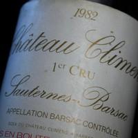 Château Climens Sauternes-Barsac 1er Cru 1982