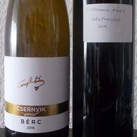 Csernyik páros - Kékfrankos 2016 és Bérc 2016