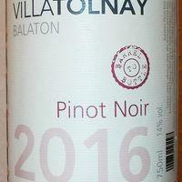 Tegnap ittam - Villa Tolnay Pinot Noir 2016