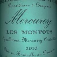 A. et P. de Villaine: Mercurey les Montots 2010