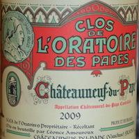Clos de l'Oratoire des Papes: Chateauneuf du Pape 2009