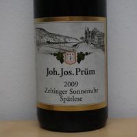 J. J. Prüm : Zeltinger Sonnenuhr Spätlese 2009.