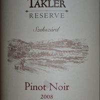 Takler: Pinot Noir Reserve 2008