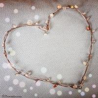 Drót szív gyöngyökkel