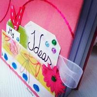 Ötlet notesz scrapbook papírokkal