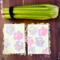 Nyomdázz virágos képet a zellerrel