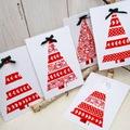 Karácsonyi üdvözlőlap- Készíts dekorációs ragasztószalaggal üdvözlőlapot