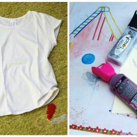 Pikk -pakk DIY: unalmas póló? Fesd át!