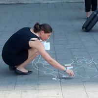 A kísérlet eredménye: én rajzolhatok krétával! #magyarAszfaltra #magyarRajzot