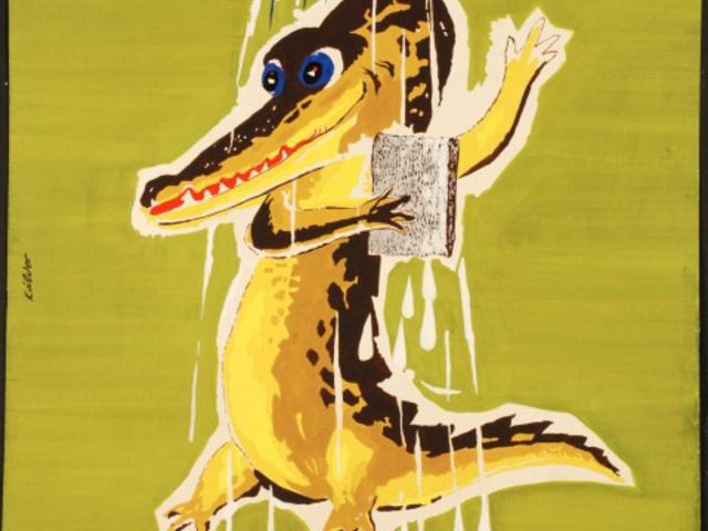 Krokodil a zuhany alatt!