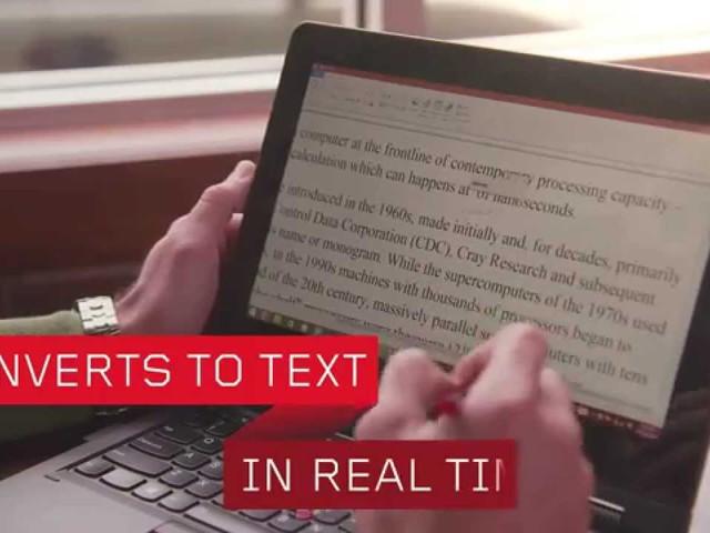 A Lenovo WRITEit® technológiája™ a számítógépeken és táblagépeken egyaránt megkönnyíti a kézírást