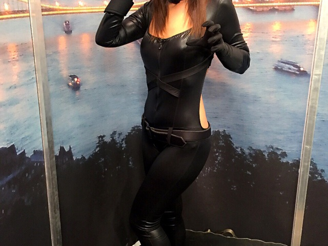 Pordán Petra szexi macskanőként vezetett műsort a Sportklubon