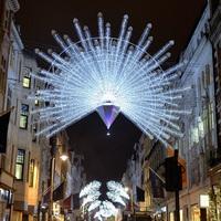 London karácsonyi fényekben