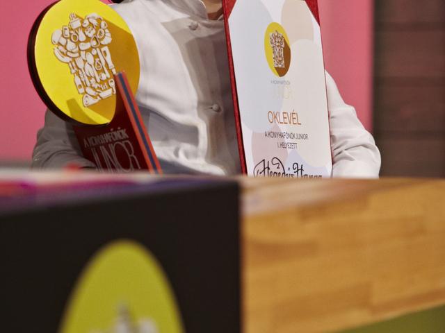 Hegedűs Hanga a Konyhafőnök Junior győztese