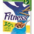30%-kal csökkenti natúr NESTLÉ FITNESS gabonapelyhének cukortartalmát a Nestlé