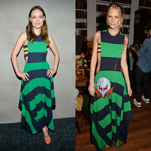 Olivia Wilde és Poppy Delevingne Stella McCartney ruhájában