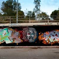 AthensFX - FORK4 és TONES közös falfestménye Athénban