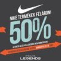Akciócsomag: Nike, O'Neill és Desigual cuccok féláron, vagy még olcsóbban a Legends Store-ban