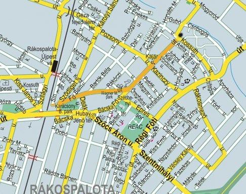 Budapest Térkép Kerületekkel és Utcákkal