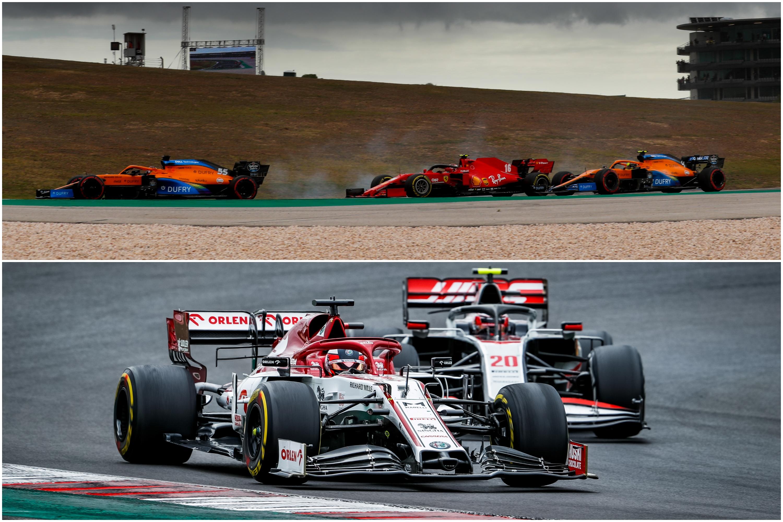 F1: Onboard videón Sainz és Räikkönen 10 pontos rajtja