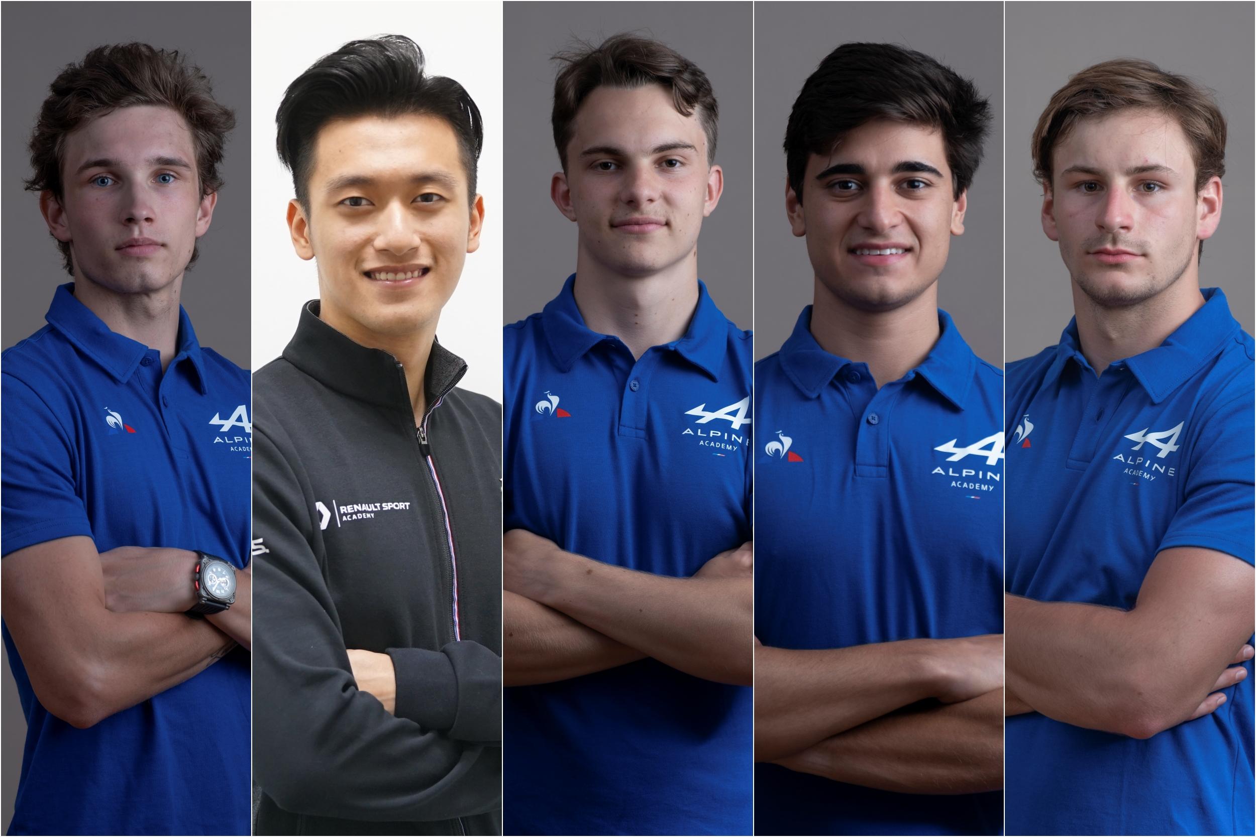 Bemutatta juniorjait az Alpine F1-es csapata
