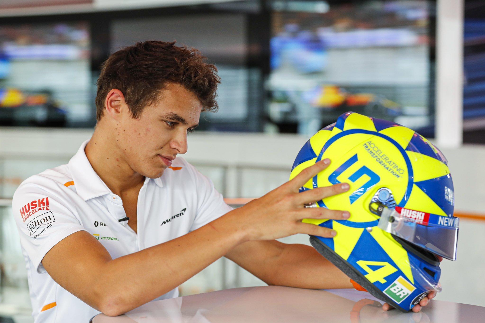 F1: Valentino Rossi előtt tiszteleg Monzában a McLaren újonca