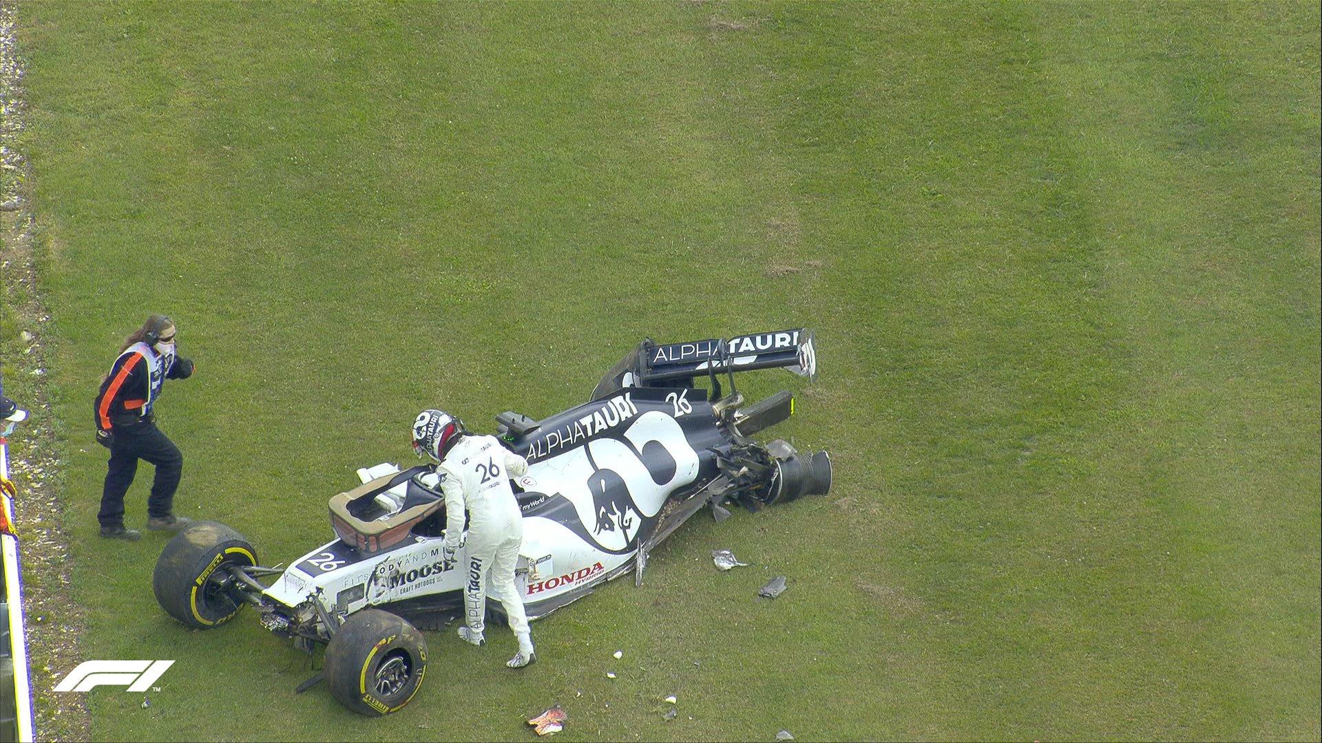 F1: Kvjat balesetét is kivizsgálta a Pirelli, itt az eredmény
