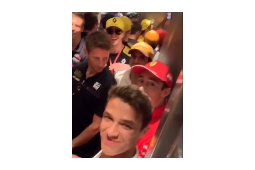 F1: És akkor a fél mezőny a hockenheimi lift fogságába esett…