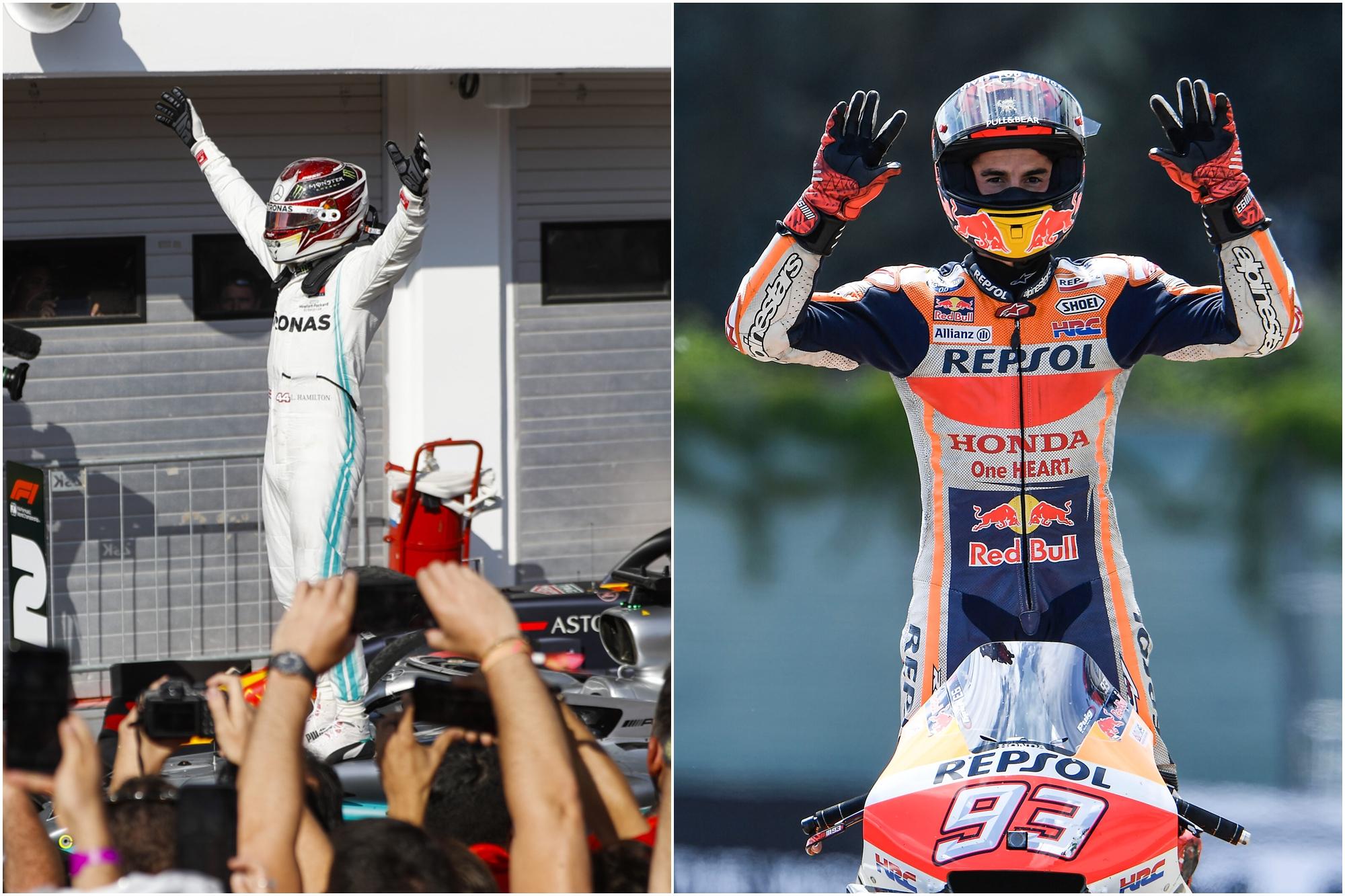 F1: A MotoGP ásza szívesen párbajozna Hamiltonnal