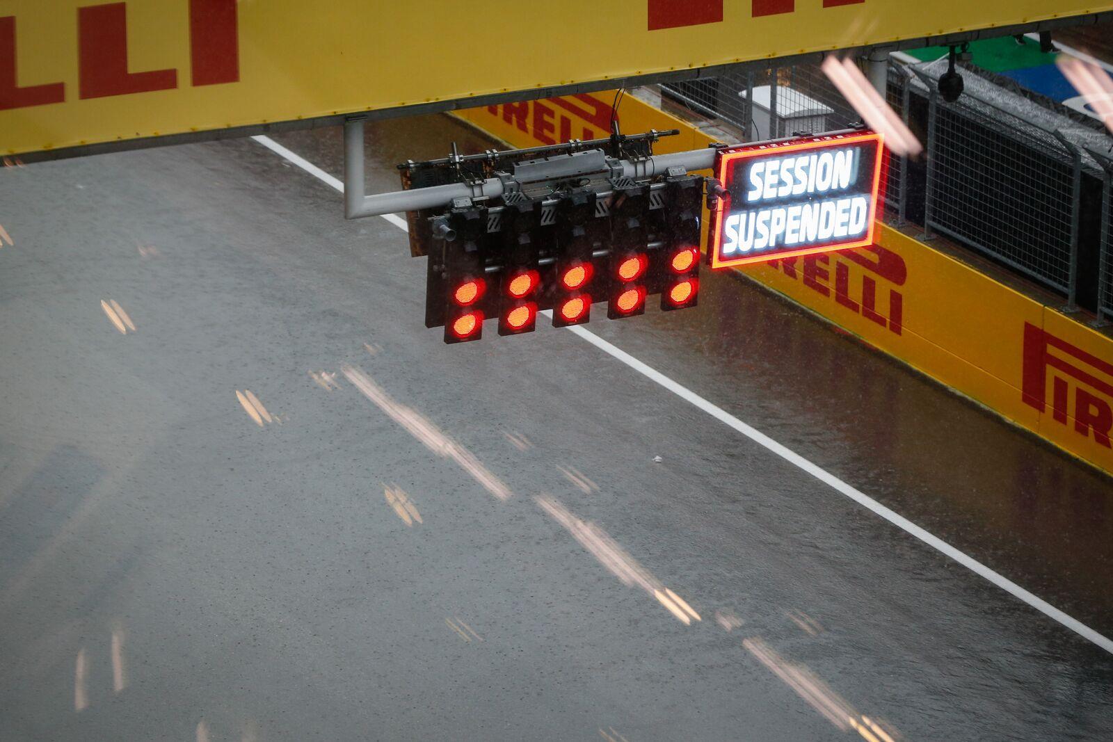 F1: Elmaradt az utolsó edzés az eső áztatta Red Bull Ringen
