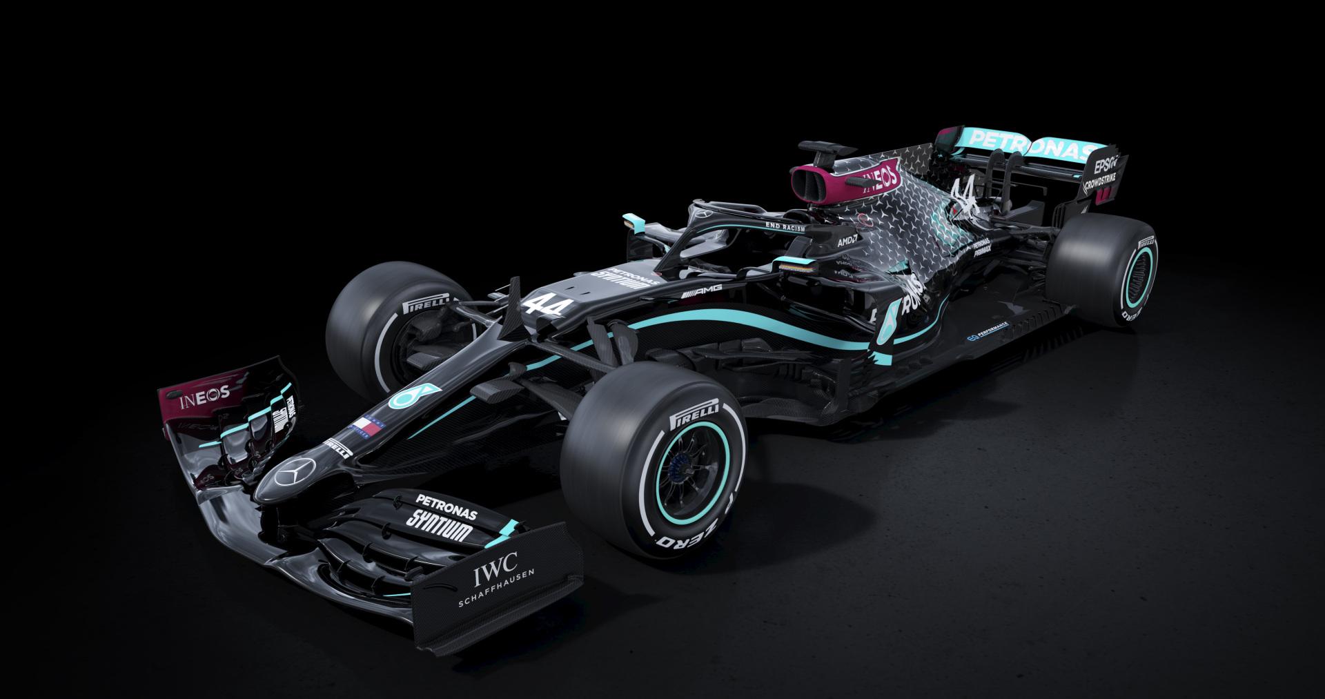 F1: Új festést villantott a Mercedes is – a rasszizmus miatt