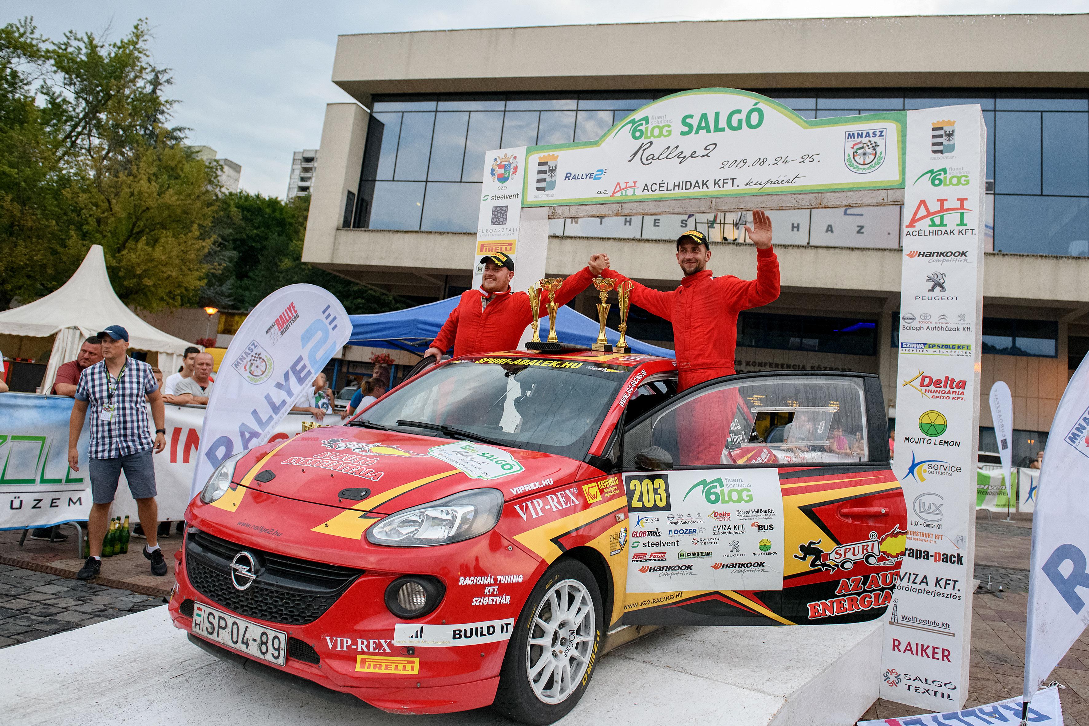 Tim Gábor második az Salgó Rallye-n