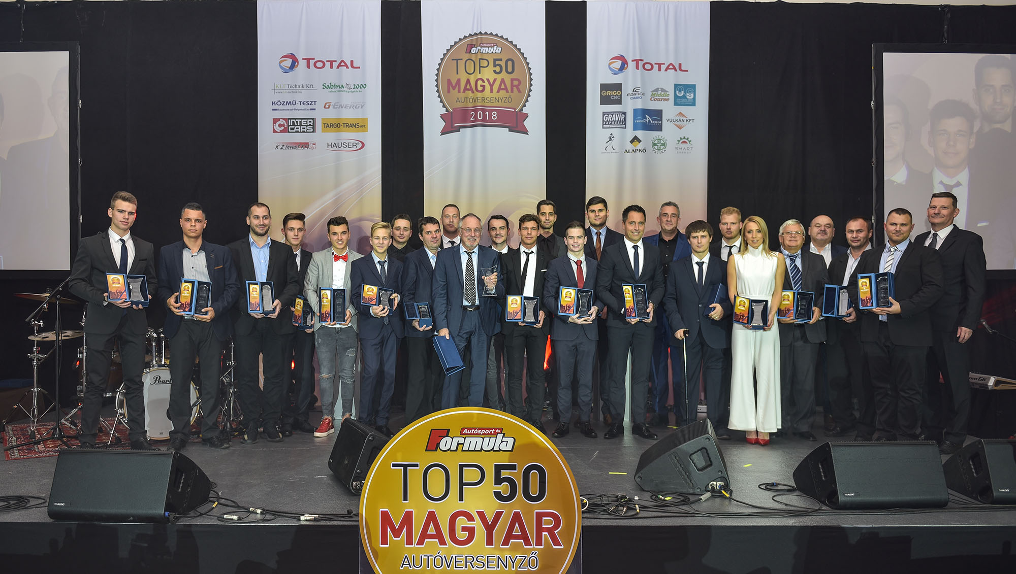 TOP50: 2018-ban is díjazták a legjobb magyar autóversenyzőket