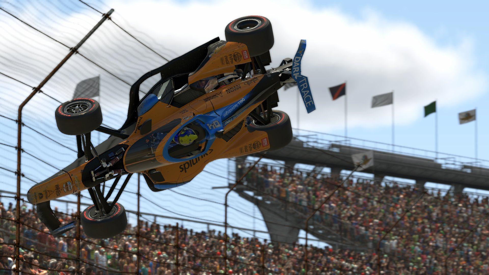 Botrányba fulladt az IndyCar online futama