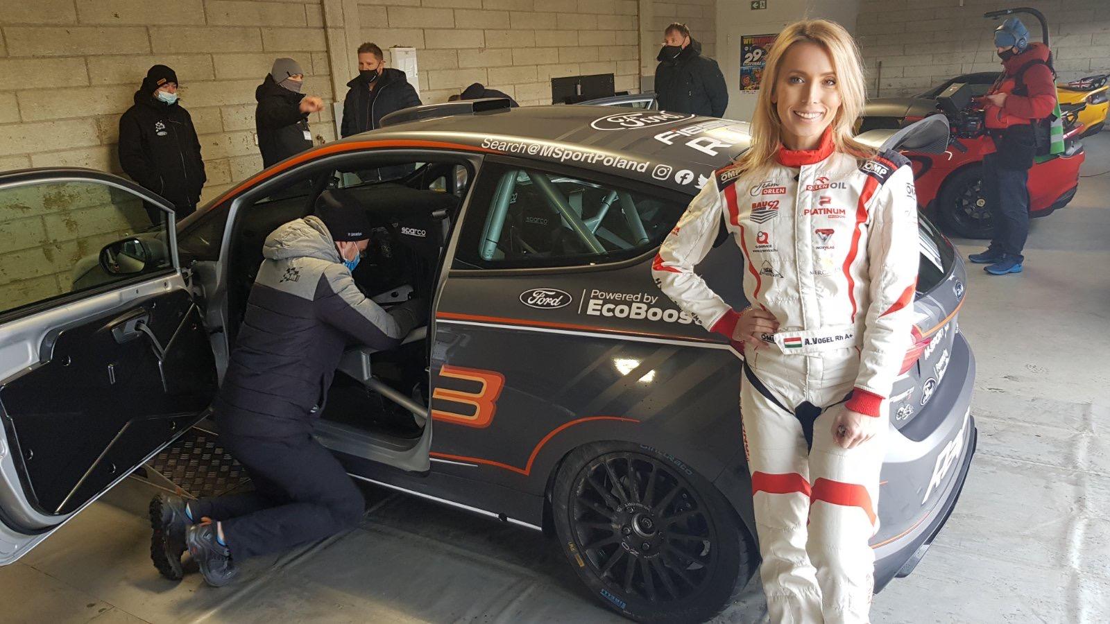 Az M-Sport legújabb Fordjával tesztelt Vogel Adrienn