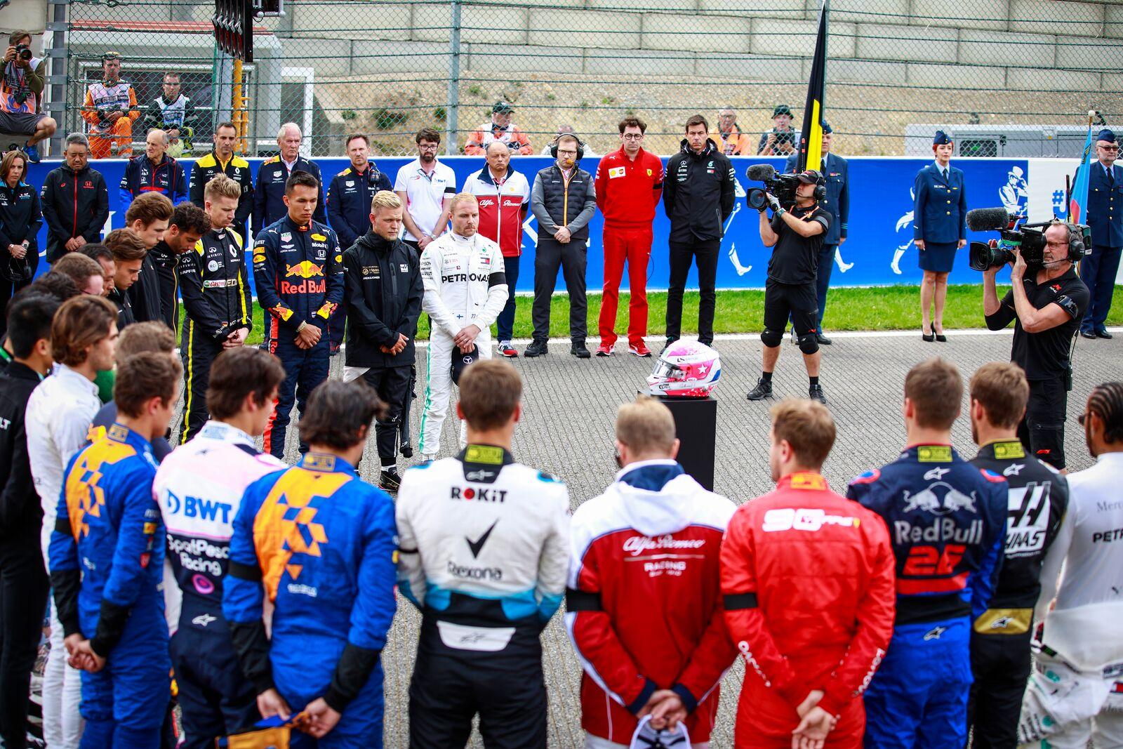 F1: Egyperces néma csend a Belga Nagydíj előtt