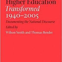 ??TXT?? American Higher Education Transformed, 1940–2005: Documenting The National Discourse. stock Season gratuito ayudamos tiene quieres Encontra