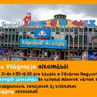 Zsonglőr játszóház a Cirkusz Világnapján!