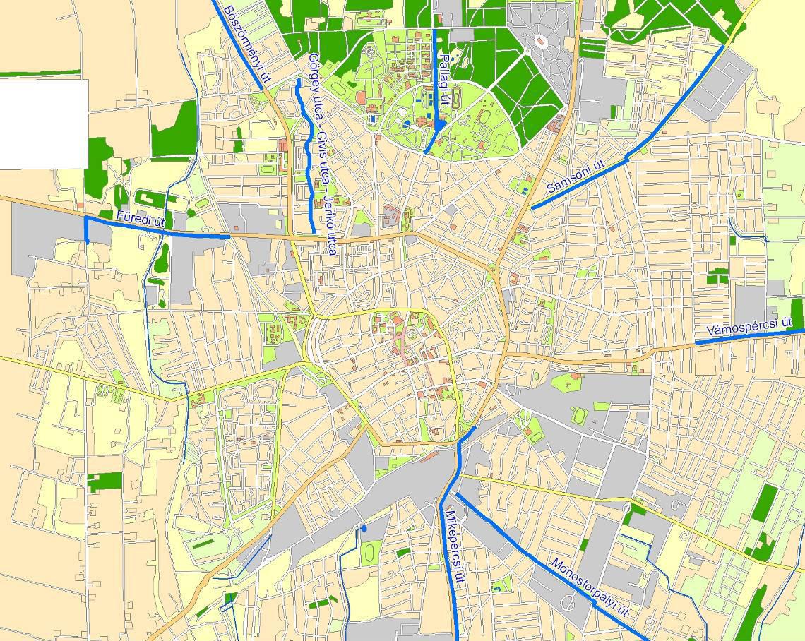 kerékpárút debrecen térkép Kerékpárút fejlesztés Debrecenben   BringaBuzi™ kerékpárút debrecen térkép