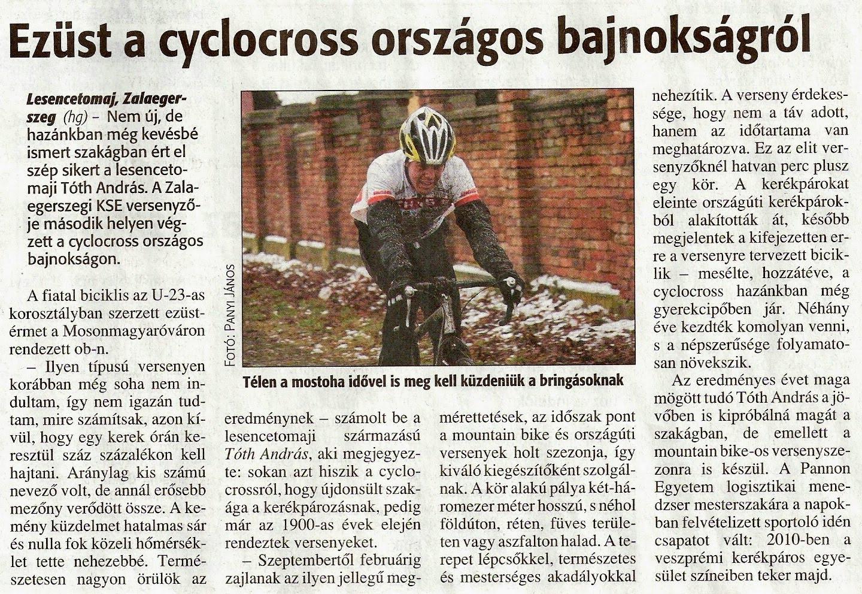 A cyclocross OB-ról - 2010.január 15 - Napló
