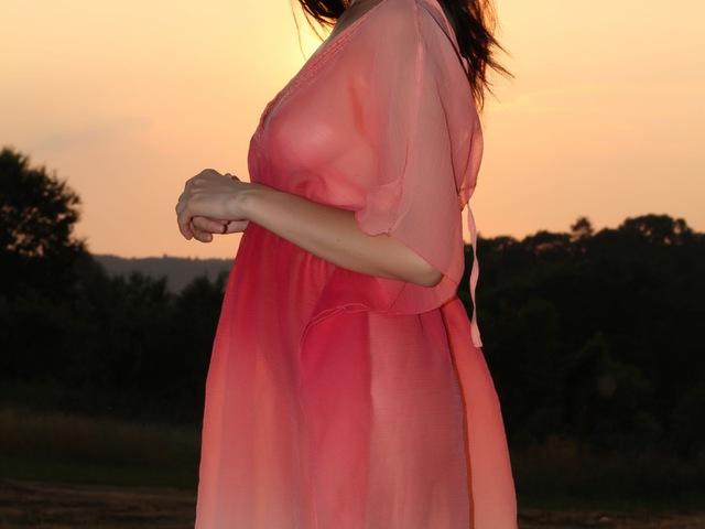 Lucie, tarló, naplemente