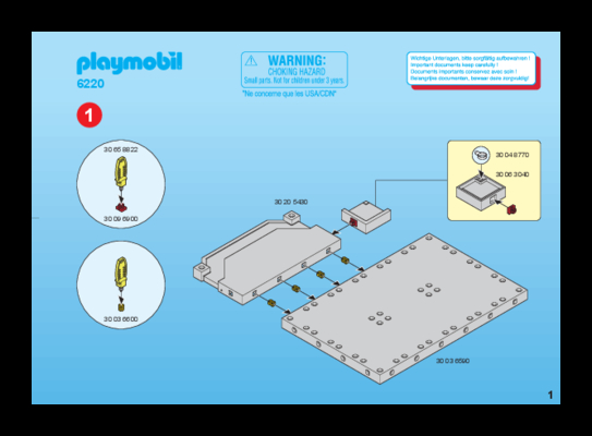 Playmobil építési útmutató - System-X