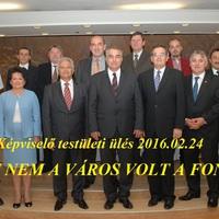 Szszm - Képviselő testületi ülés - 2016.02.24  - ISMÉT NEM A VÁROS VOLT A FONTOS!