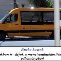 Bucka buszok: Továbbra is várunk a menetrend módosításban minden észrevételt