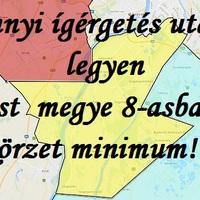 Annyi ígérgetés után legyen Pest megye 8-asban körzet minimum!
