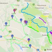 Kerékpáros útvonalak és célpontok Budakeszi környékén
